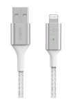 Belkin BoostCharge 1.2m Smart LED Lightning to USB-A Cable - White