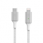 Belkin BoostUP Charge 1.2m USB-C to Lightning Charge & Sync Cable with Smart LED - White