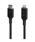 Belkin BoostUP Charge 1.2m USB-C to Lightning Charge & Sync Cable with Smart LED - Black