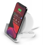 Belkin BoostUP Charge Wireless Charging Stand with Speaker - White