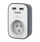 Belkin Single Outlet Surge Protector with Dual 2.4A USB Ports