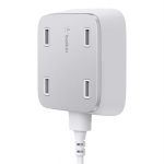 Belkin Family RockStar 4-Port USB Hub Charger - White