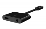 Belkin RockStar USB-C to 3.5mm Audio Adapter with Power Delivery - Black