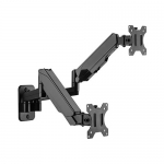 Brateck Dual Screen Gas Spring Wall Mount Bracket for 17-32 Inch Monitors - Up to 8kg per Arm