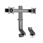 Brateck Articulating Dual Monitor Desk Mount Bracket for 17-27 Inch Curved & Flat Panel TVs or Monitors - Up to 7kg per arm
