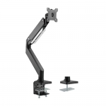 Brateck Heavy-Duty Gas Spring Single Monitor Desk Mount Bracket for 17-35 Inch Curved & Flat Panel TVs or Monitors - Up to 15kg