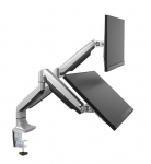 Brateck Interactive Counterbalance Dual-Monitor Desk Mount Bracket for 13-32 Inch Monitors - Up to 9KG per arm