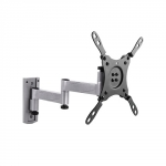 Brateck Aluminum Articulating Wall Mount Bracket for 13-42 Inch Flat Panel TVs or Monitors - Up to 15kg