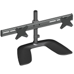 Brateck Elegant Aluminum Free Standing Dual-Monitor Desk Stand for 13-27 Inch Flat Panel TVs or Monitors - Up to 8kg per arm