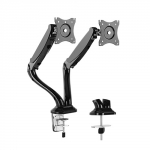 Brateck Counterbalance Dual Desk Mount Bracket for 13-27 Inch Curved & Flat Panel TVs or Monitors - Up to 6kg per arm