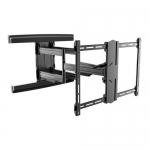Brateck Contemporary Designed Full-Motion Black Wall Mount Bracket for 37-80 Inch Flat Panel & Curved TVs or Monitors - Up to 70kg