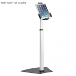 Brateck Aluminum Anti-Theft Floor Stand Tablet Kiosk for 7.9 to 10.5 Inch Tablets