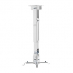 Brateck Universal Adjustable Wall & Ceiling 430-650mm Projector Mount Bracket - White