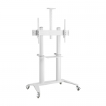 Brateck Ultra Modern Large Screen TV & Commercial Display Mobile Cart with Shelf