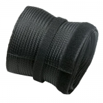 Brateck 20m x 85mm Flexible Polyester Cable Sock Cable Management Solution - Black