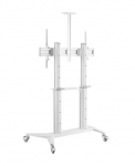 Brateck  Large Screen Ultra-Strong Mobile Aluminum TV Cart - White