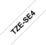 Brother P-Touch TZE-SE4 18mm Black on White Security Label Tape