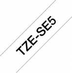 Brother P-Touch TZE-SE5 24mm Black on White Security Label Tape
