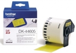 Brother DK44605 62mm x 30m Black on Yellow Continuous Removable Paper Label Roll Tape