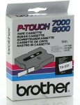 Brother TX231 12mm Black on White P-Touch Tape