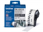 Brother DK22210 29mm X 30m Black on White Continuous Label Roll Tape