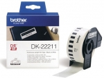 Brother DK22211 29mm X 15m Black on White Continuous Label Roll Tape