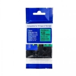 Brother P-Touch TZe-FX741 18mm Black on Green Flexible ID Laminated Label Tape