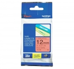 Brother P-Touch TZe-FX431 12mm Black on Red Flexible ID Laminated Label Tape