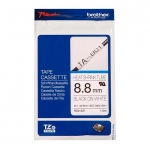 Brother P-Touch HSE-221 9mm Black on White Heat Shrink Tube Label Tape