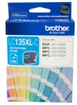 Brother LC135XLC High Yield Cyan Ink Cartridge
