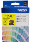 Brother LC135XLY Yellow High Yield Ink Cartridge