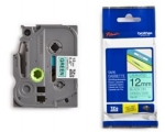 Brother P-Touch TZE-731 12mm Black on Green Laminated Label Tape