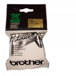 Brother P-Touch M831 12mm Black on Gold TZ Tape