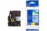 Brother P-Touch TZE-561 36mm Black on Blue Laminated Label Tape