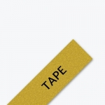 Brother P-Touch TZE-PR831 12mm Black on Gold Glitter Premium Laminated Label Tape