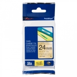 Brother P-Touch TZE-PR851 24mm Black on Gold Glitter Premium Laminated Label Tape