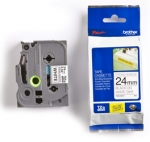 Brother P-Touch TZES251 24mm Black on White Label Tape