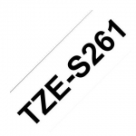 Brother P-Touch TZE-S261 36mm Black on White Strong Adhesive Label Tape