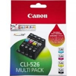 Canon CLI-526 MULTIPK Ink Cartridge Value Pack - Photo Black, Cyan, Magenta, Yellow