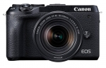 Canon EOS M6 Mark II 32.5 Megapixels Mirrorless Camera with 15-45mm Lens - Black