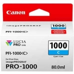 Canon PFI-1000C Cyan 80ml Ink Tank Cartridge