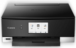 Canon PIXMA Home TS8260 A4 17ppm Network Wireless Multifunction Inkjet Printer - Black