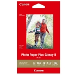 Canon PP-301 4x6 Glossy 102x152mm 260gsm Photo Paper Plus II - 100 Sheets