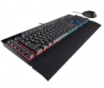 Corsair K55 and Harpoon RGB USB Wired Keyboard and Mouse Combo - Black
