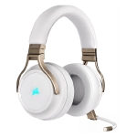 Corsair Virtuoso RGB Wireless High-Fidelity Gaming Headset with Detachable Microphone - Pearl
