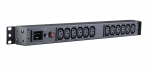 CyberPower Basic 12 Outlet 1RU Rackmount Undercounter PDU Power Distribution Unit with Overload Protection