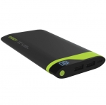 Cygnett ChargeUp Digital Powerbank 6000mAH 2.1 Amp - Green & Grey
