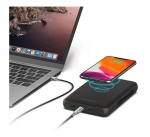 Cygnett ChargeUp Edge+ 27000mAh 4-Port USB-A & USB-Wireless Powerbank with Integrated USB-C Cable