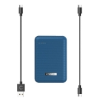 Cygnett ChargeUp Reserve 10000mAh Dual Port USB-A & USB-C Powerbank with 18W Fast Charging - Navy Blue