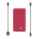 Cygnett ChargeUp Reserve 20000mAh Dual Port USB-A & USB-C Powerbank with 18W Fast Charging - Red